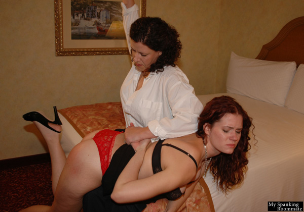 Miss Chris spanking Jenni Mack at My Spanking Roommate