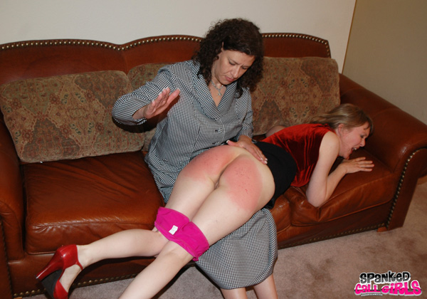 Miss Chris returns and gives Clare Fonda a very hard spanking on Spanked Callgirls