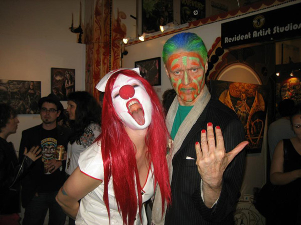 Snow Mercy and Kim Fowley